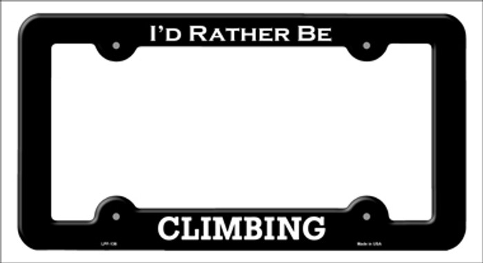 Climbing Novelty Metal License Plate Frame LPF-136