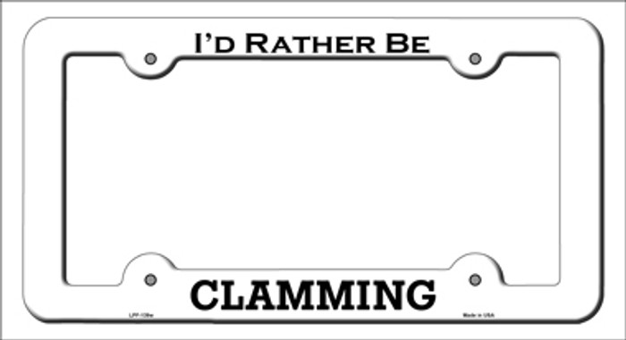 Clamming Novelty Metal License Plate Frame LPF-139