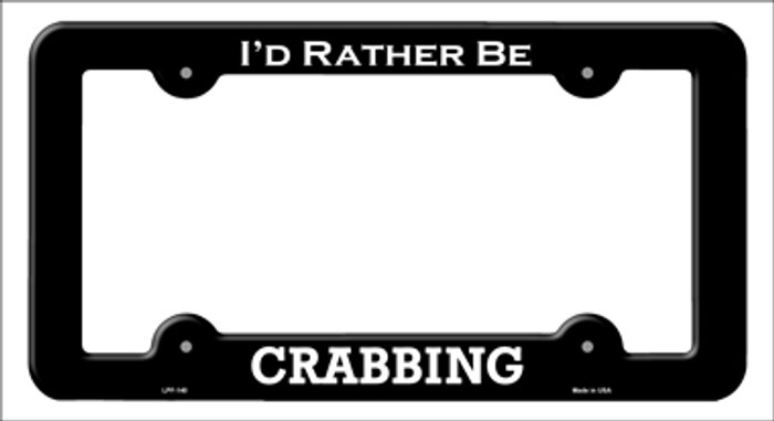 Crabbing Novelty Metal License Plate Frame LPF-140