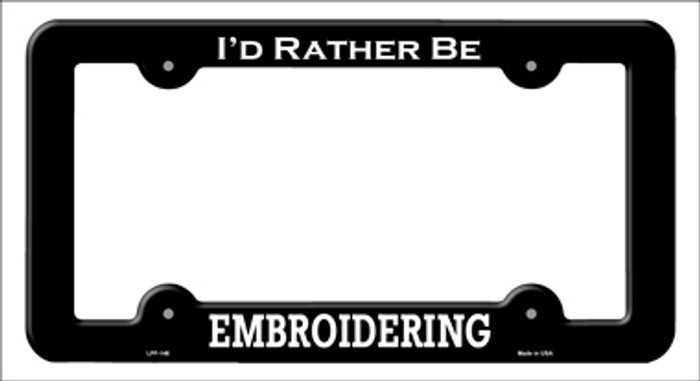 Embroidering Novelty Metal License Plate Frame LPF-148