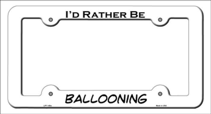 Ballooning Novelty Metal License Plate Frame LPF-149