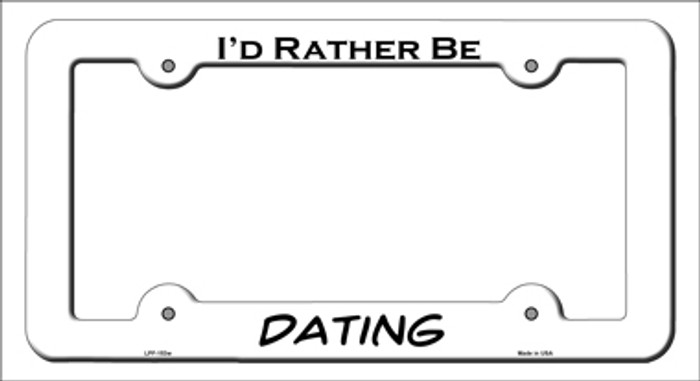 Dating Novelty Metal License Plate Frame LPF-153