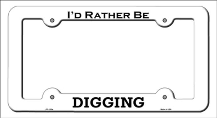 Digging Novelty Metal License Plate Frame LPF-155