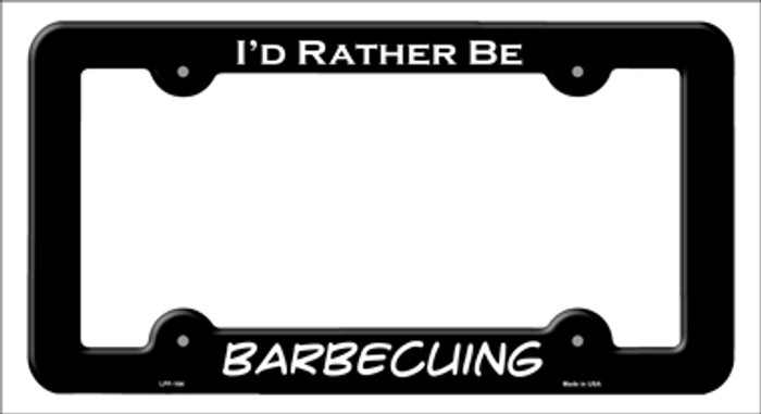 Barbecuing Novelty Metal License Plate Frame LPF-164