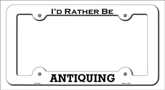 Antiquing Novelty Metal License Plate Frame LPF-167