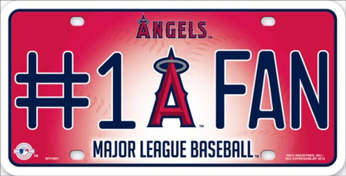Angels Fan Metal Novelty License Plate