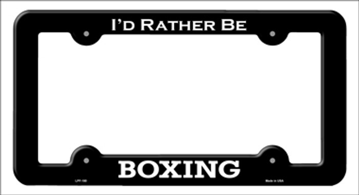 Boxing Novelty Metal License Plate Frame LPF-180
