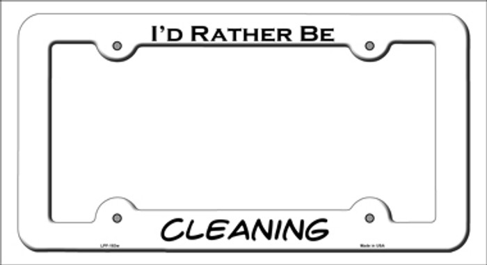 Cleaning Novelty Metal License Plate Frame LPF-183