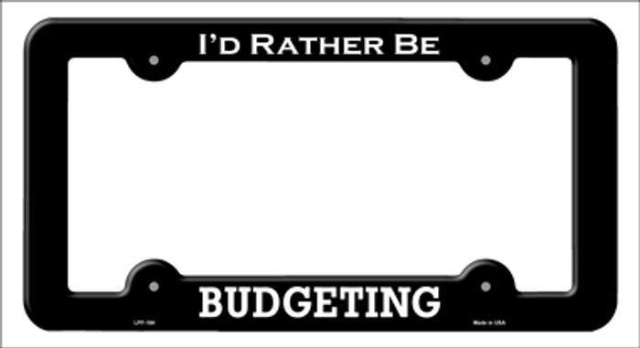 Budgeting Novelty Metal License Plate Frame LPF-184