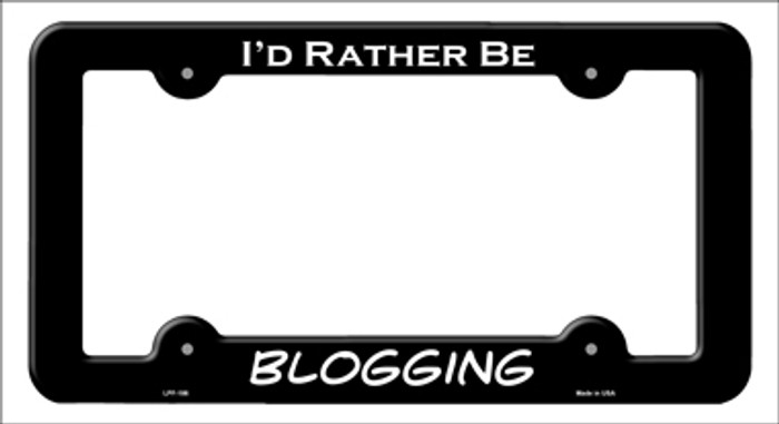Blogging Novelty Metal License Plate Frame LPF-186