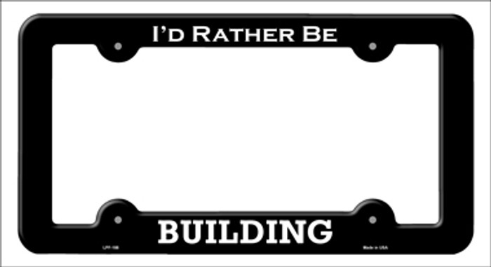 Building Novelty Metal License Plate Frame LPF-188