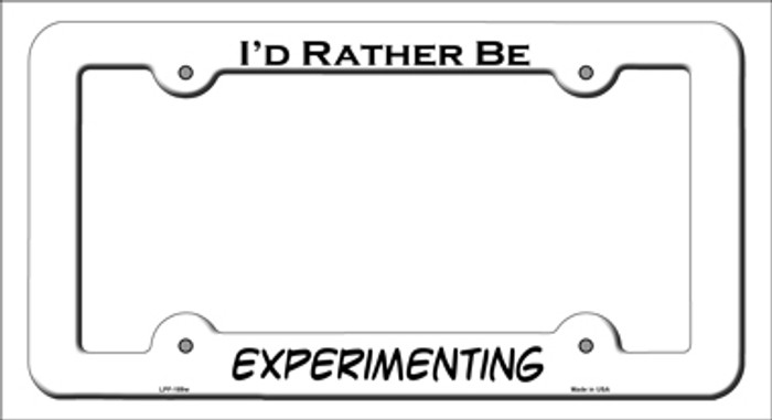 Experimenting Novelty Metal License Plate Frame LPF-189