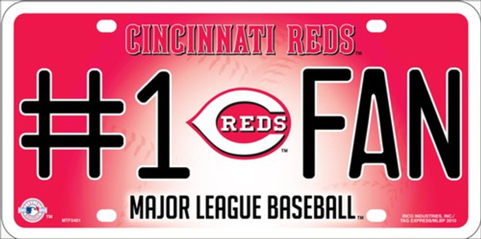 Reds Fan Metal Novelty License Plate