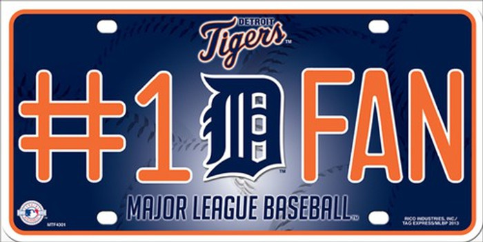 Tigers Fan Metal Novelty License Plate