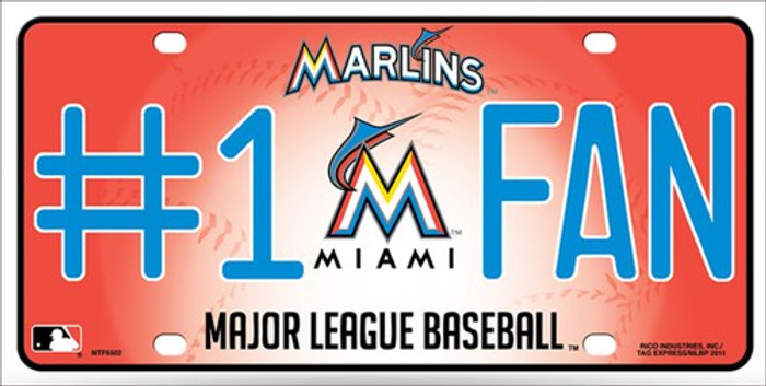 Marlins Fan Metal Novelty License Plate