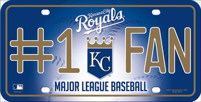 Royals Fan Metal Novelty License Plate
