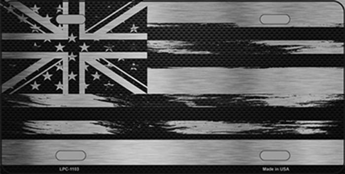 Hawaii Carbon Fiber Brushed Aluminum Novelty Metal License Plate LPC-1103