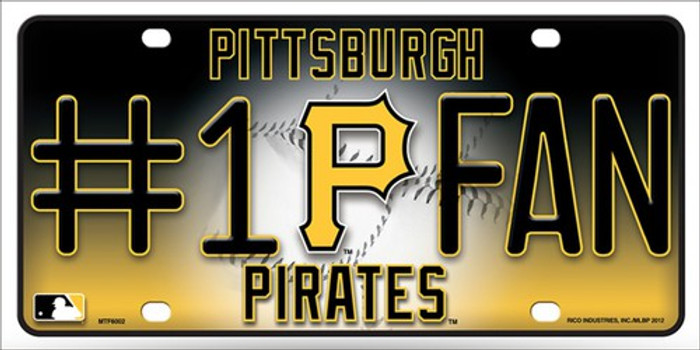 Pirates Fan Metal Novelty License Plate