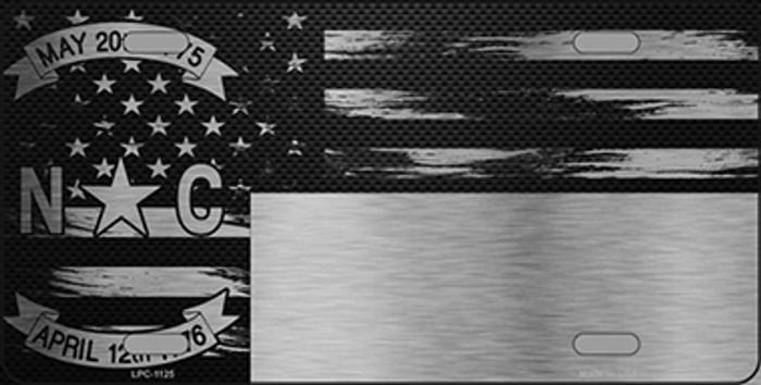 North Carolina Carbon Fiber Brushed Aluminum Novelty Metal License Plate LPC-1125