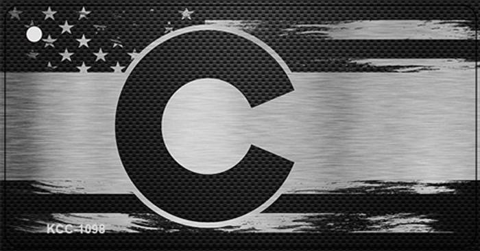Colorado Carbon Fiber Effect Novelty Metal Key Chain KCC-1098
