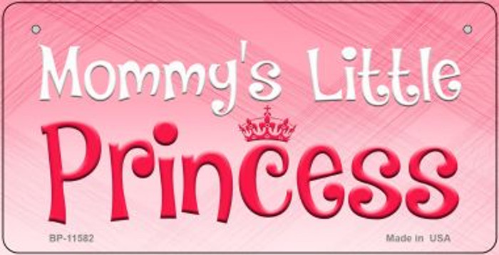 Mommys Little Princess Novelty Metal Bicycle License Plate
