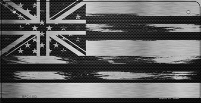 Hawaii Carbon Fiber Effect Novelty Metal Bicycle Plate BPC-1103