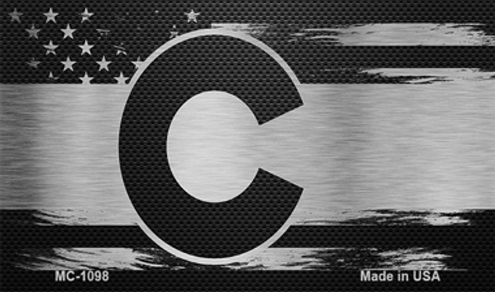 Colorado Carbon Fiber Brushed Aluminum Novelty Metal Magnet MC-1098