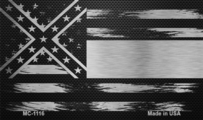 Mississippi Carbon Fiber Brushed Aluminum Novelty Metal Magnet MC-1116