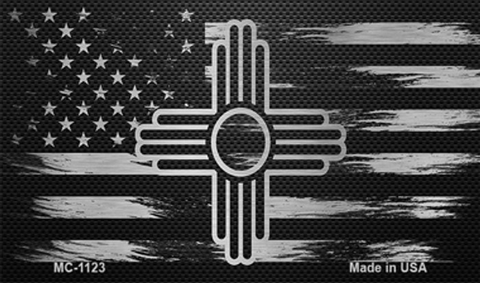 New Mexico Carbon Fiber Brushed Aluminum Novelty Metal Magnet MC-1123