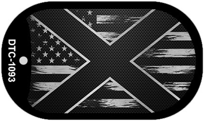 Alabama Carbon Fiber Brushed Aluminum Novelty Metal Dog Tag Necklace DTC-1093