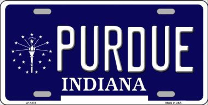 Purdue Indiana Metal Novelty License Plate