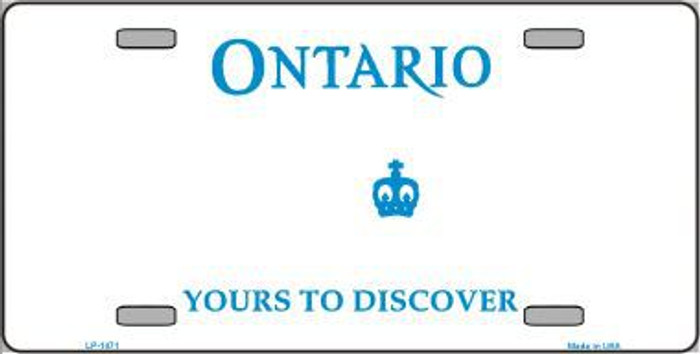 Ontario Canada Novelty Background Metal License Plate