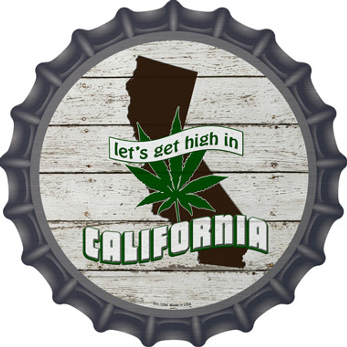 Lets Get High In California Novelty Metal Bottle Cap BC-1294