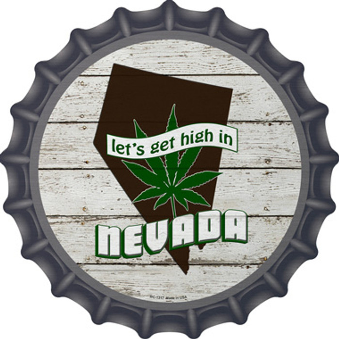 Lets Get High In Nevada Novelty Metal Bottle Cap BC-1317