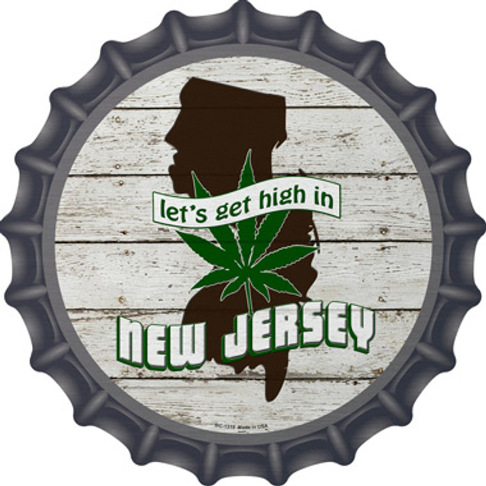 Lets Get High In New Jersey Novelty Metal Bottle Cap BC-1319