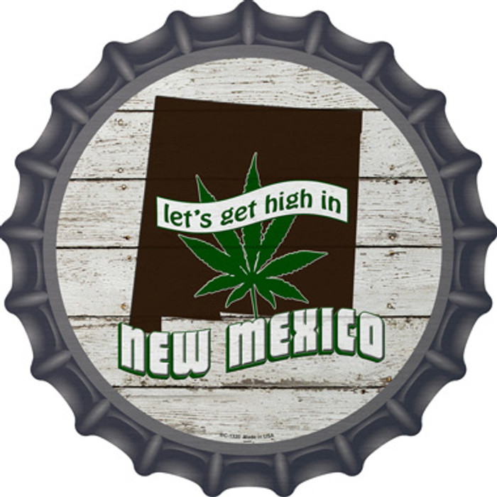 Lets Get High In New Mexico Novelty Metal Bottle Cap BC-1320