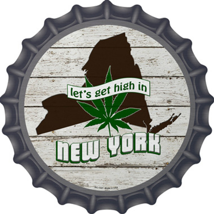 Lets Get High In New York Novelty Metal Bottle Cap BC-1321