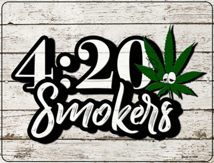 420 Smokers Novelty Metal Mini Parking Sign PM-3312