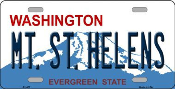 Mt St Helens Washington Novelty Metal License Plate