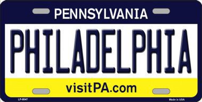 Philadelphia Pennsylvania State Background Novelty Metal License Plate