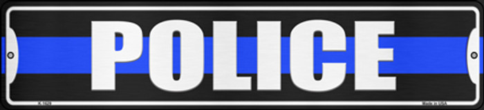 Police Blue Line Novelty Small Metal Street Sign K-1629