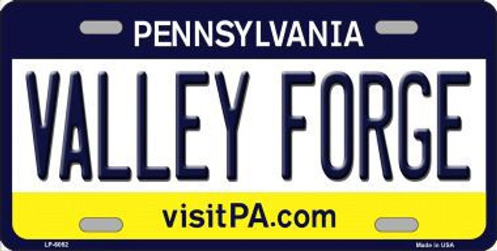 Valley Forge Pennsylvania State Background Novelty Metal License Plate