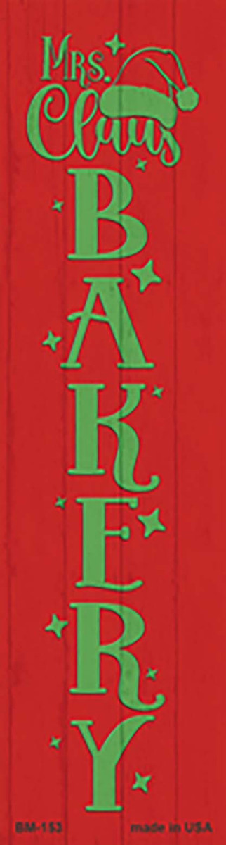 Mrs Claus Bakery Red Novelty Metal Bookmark BM-153