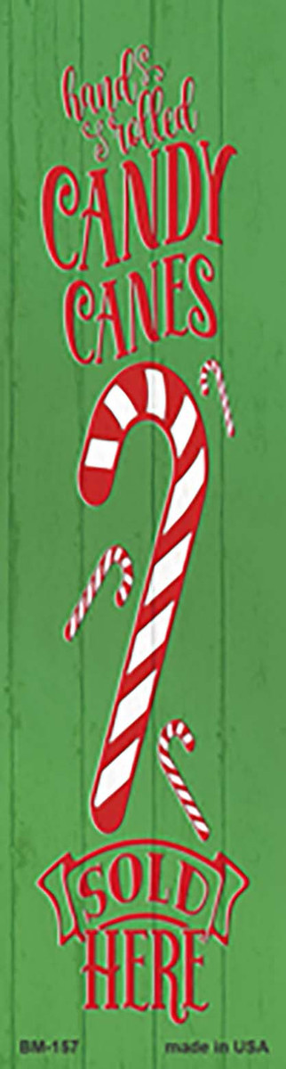Candy Canes Sold Here Green Novelty Metal Bookmark BM-157