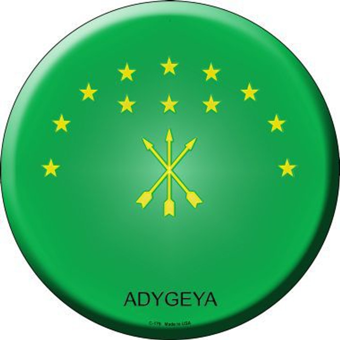 Adygeya Country Novelty Metal Circular Sign