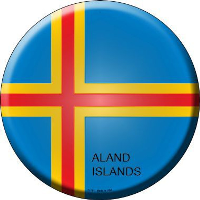 Aland Islands Country Novelty Metal Circular Sign