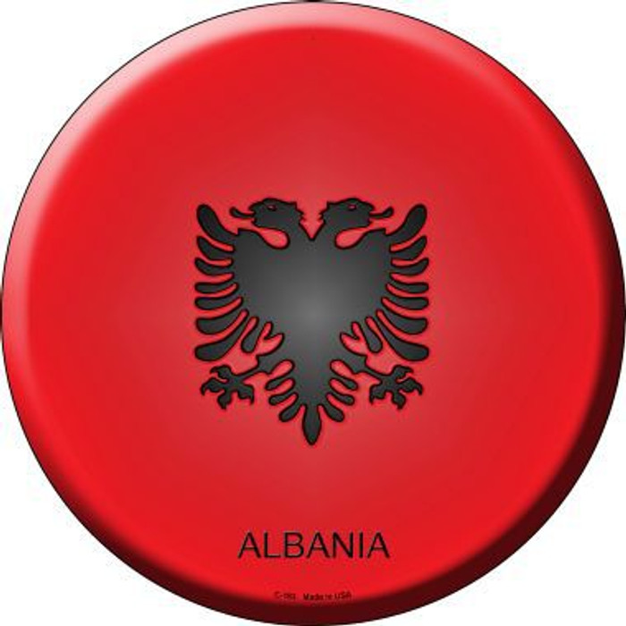 Albania Country Novelty Metal Circular Sign