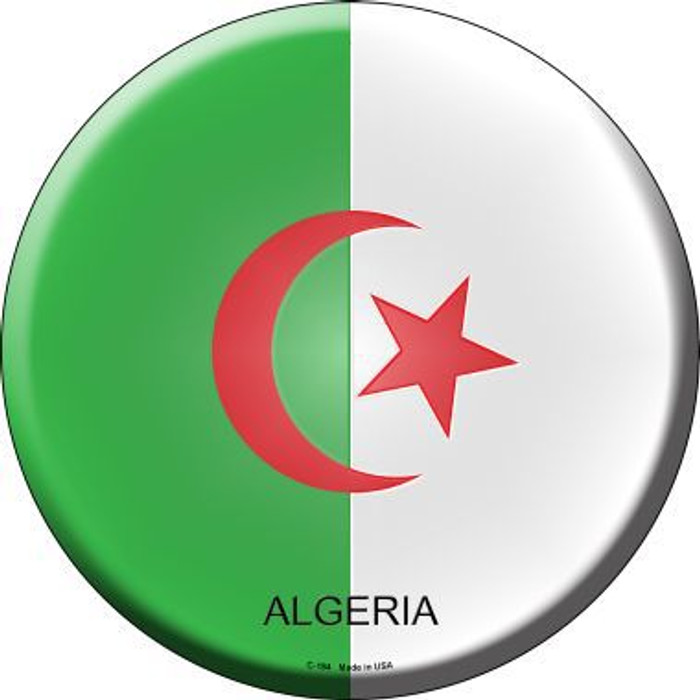 Algeria Country Novelty Metal Circular Sign