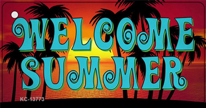Welcome Summer Novelty Metal Key Chain Tag KC-13773