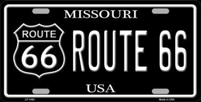 Route 66 Missouri Metal Novelty License Plate